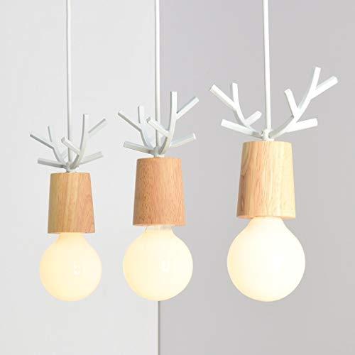 Pendelleuchte Amerikanischen Stil 3 Kopf Holz Restaurant Lampe Kreative Minimalistischen Esszimmer Esstisch Lampen s (Modernen Weißen Esstisch Satz)