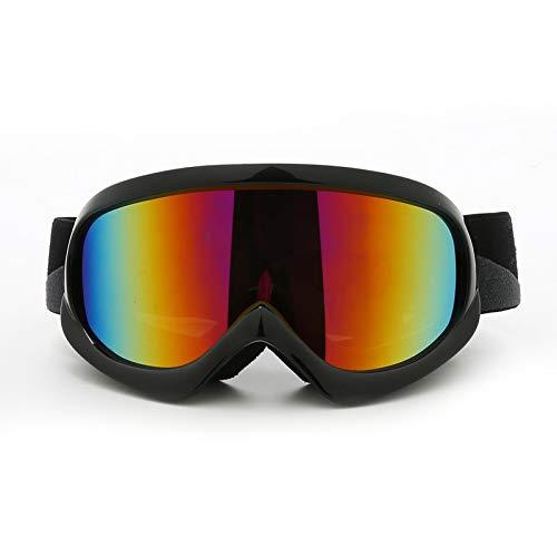 Gnzoe Kinder TPU Skibrille Schneebrille Snowboardbrille Zweilagige Anti-Fog PC Objektiv (Cocker Myopie Brille) Snowboard Brille Schutzbrillen für Skifahren Schneemobil Skaten/Gelb (Gelbe Snowboard-schutzbrillen)