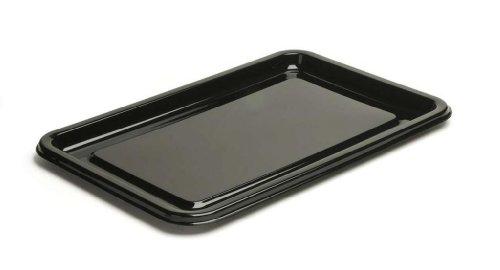 Sortie-Sabert Thali Plateau Rectangulaire Grand Buffet plats-Noir - 55 x 37 cm-Lot de 10