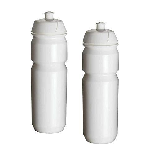 TacX Shiva Fahrrad-Trinkflaschen? 750 ml, einfarbig, Weiß, 2 Stück -