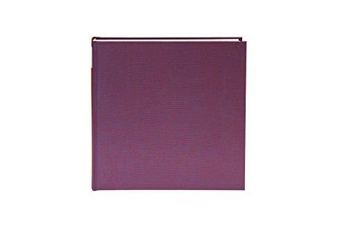 Goldbuch Fotoalbum, Summertime Trend, 30 x 31 cm, 100 weiße Seiten mit Pergamin-Trennblättern, Leinen, Brombeere, 31807 -