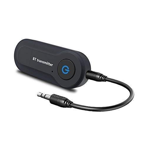Aigoss Transmisor Bluetooth USB Adaptador de Audio Inalámbrico 3.5mm para TV/Ordenador/ Auriculares/Altavoz,...