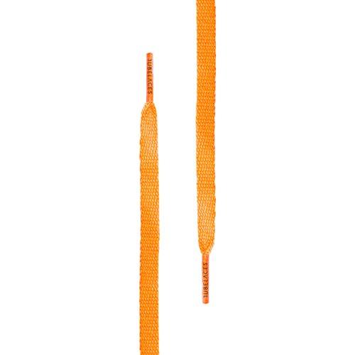 TubeLaces White Flat Schnürsenkel Schnürsenkel Orange (Neonorange)