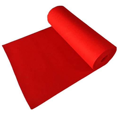 Tappeto aisle runner for cerimonia di matrimonio in cerimonia di apertura nozze tappeto antiscivolo resistente all'usura tappeto monouso jinrong (color : red, size : 1 * 40m)