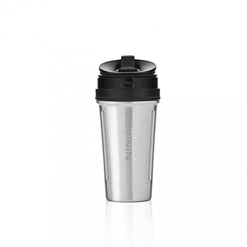 Nutri Ninja - Taza con tapa y abertura para beber. 1x650ml Stainless Steel Cup metalizado