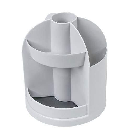 TOYANDONA Schreibtisch Stift Stifthalter Fach Make-up Pinsel Tasse Mehrzweck Aufbewahrung Organizer Container (grau)