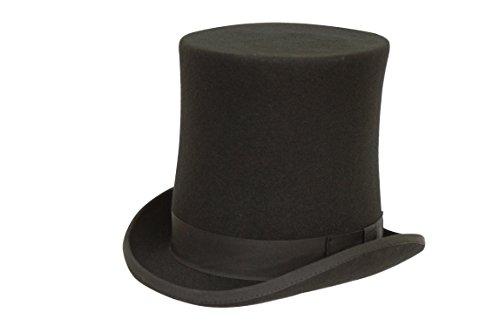 Formelle Men's Stove Pipe Höhe: Zylinder, schwarz, Wolle -