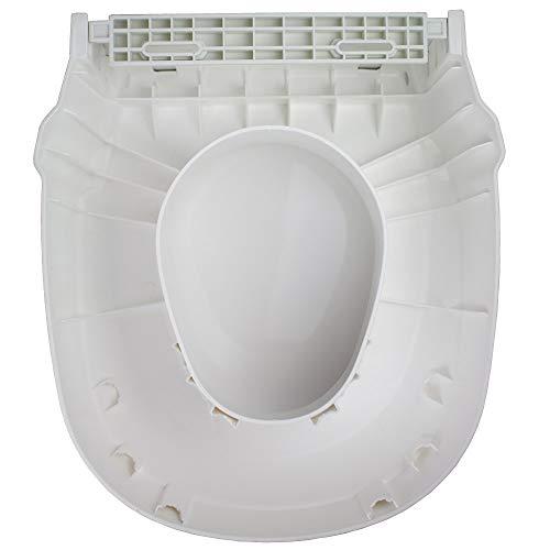 Invacare Toilettensitzerhöhung, Deckel, Toilettenaufsatz, 3 Höheneinstellungen, 6,10,15cm