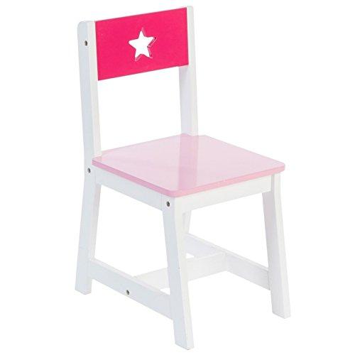Liste de prix Chaise en bois pour enfants – Motif Etoile – Coloris ROSE et BLANC