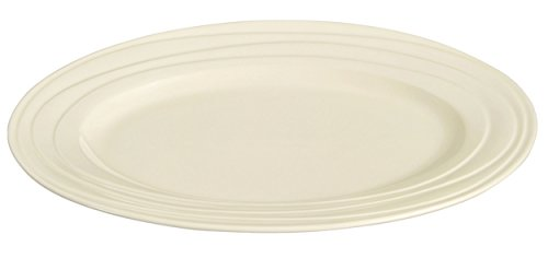 Jamie Oliver Waves Large 40 cm/40,6 cm ovale Plat de service Porcelaine Blanc cassé en céramique moderne