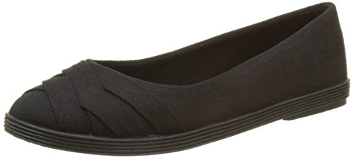 Blowfish Damen GLO2 Ballerinas, Noir (Solid Black), 38 EU (Blowfish Schuhe Schwarz)