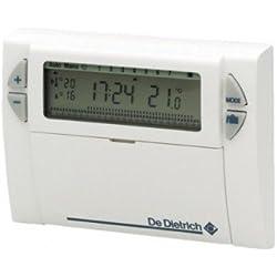 Thermostat d'ambiance DE DIETRICH AD 137 digital programmation hebdomadaire filaire compatible toutes chaudières