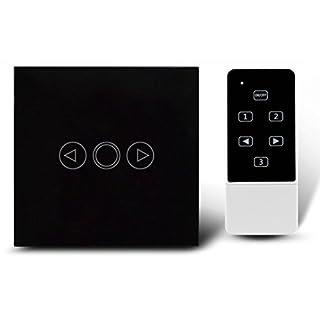 Dimmer Schalter EU Standard Wandschalter, Crystal Glas Panel, 1 Gang 1 Way Wandleuchte Remote Touch Dimmer Schalter