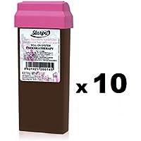 10 uds. Cera Roll On Cacao Chocolaterapia- Pack 10 unidades- Corporal - Recambio Cera Depilatoria Profesional Starpil