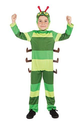 shoperama Raupe Nimmersatt Kinder-Kostüm für Mädchen und Jungen Overall und Haube, Größe:L - 8 bis 10 Jahre