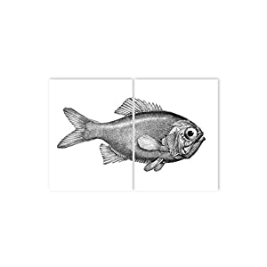 Boubouki - Wasserabweisende Fliesenaufkleber für Bad und Küche - Fred Poster - 20x25cm, Transparent