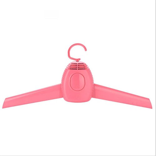 GFYWZ Rack de séchage Rapide Portable Foldable 150W Électrique de séchage Intérieur Habillement Tissu Chaussures Quiet Multifunction Hanger to Home Travel, Pink