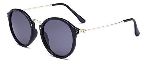 Sonnenbrille Retro Runde Sonnenbrille Luxus Frauen Gläser Spiegel Kreis Sonnenbrille Schwarz Matt Männer Schattierungen Schildkröte Frame Sonnenbrillen Vintage Eyewear
