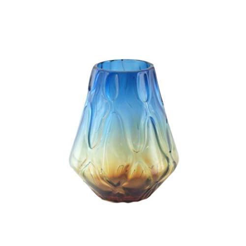 Vidal Regalos Glasvase, blau/braun, 27 cm