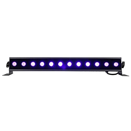 Koulate Barra de luz Negra UV de 36 vatios, luz Ultravioleta de 12 LED con luz UV de Intensidad Variable...