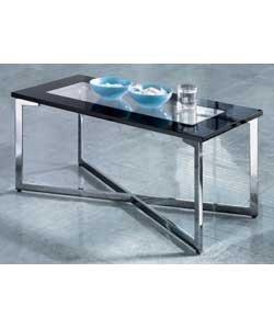 Davis Black High Gloss & Glass Coffee Table