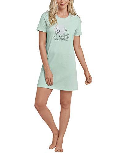 Schiesser Damen Sleepshirt 1/2 Arm, 85cm Nachthemd, Grün (Mint 708), 38 (Herstellergröße: 038)