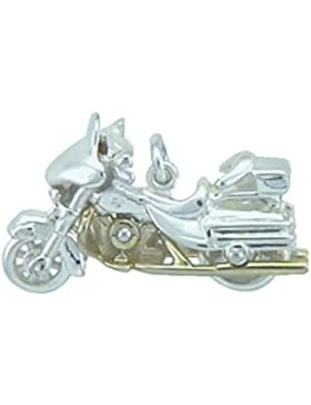 Silber 925 Sterling Silver Motiv - Anhänger - Harley - Davidson - B. 26,7 mm - H. 21 mm