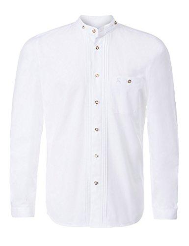 Stockerpoint Herren Trachtenhemd Leon, Weiß (Weiß), Large - 3