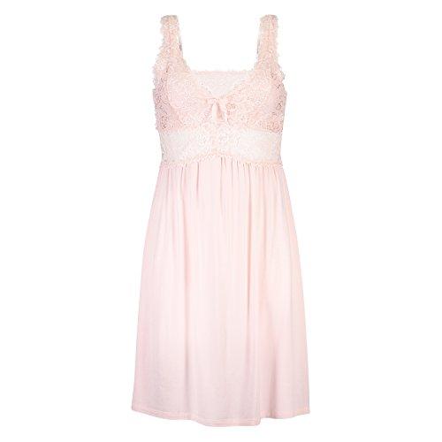 Hunkemöller Damen Slipdress Modal Lace Rose S138059
