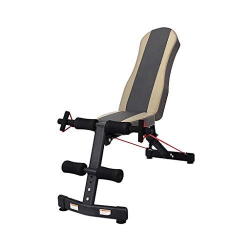 DHINGM Multiuse Startseite Workout Bench, Brust Bizeps Workout Adjustable Fitnesstraining Sport, 6-Gang-Bench Höhenverstellung Fly Flache Neigung Decline