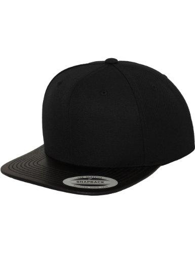 Flex fit Leather Snapback blk One Size Casquette Unisex-Adult