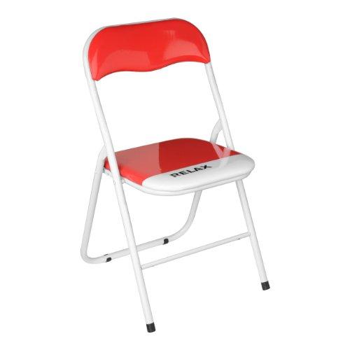 Premier Housewares Relax-Stuhl, zusammenklappbar, Rot