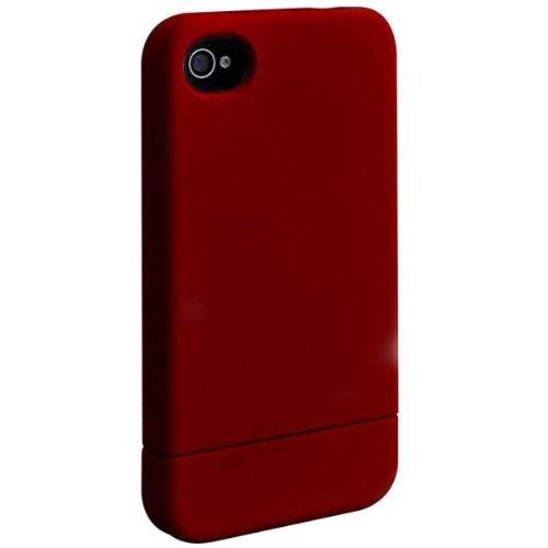 Ozaki 40LBEIC849WH iCoat Wardrobe+ und 2 teilig Schutzhülle mit Soft-Touch Beschichtung für Dock/Stand/Hi-Fi-Systeme für Apple iPhone 4/4S weiß Rot