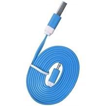 USB FUNNYGSM-Cable de datos y carga para Kazam Thunder Q4,5, color azul
