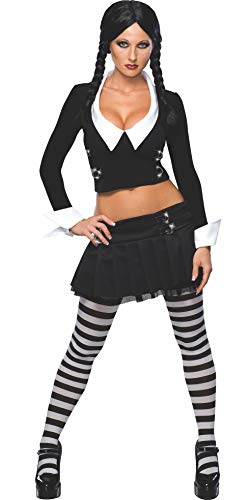Fancy Addams Dress Wednesday Kostüm - Secret Wishes Wednesday Addams Damenkostüm Halloween Verkleidung Damen Extra Small Extra Small