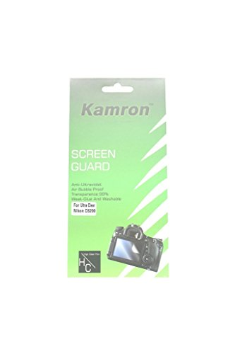 Kamron Scratchgard Anti-Ultraviolet Screen Protector For Nikon D3200 / D3300 / D3400  available at amazon for Rs.225