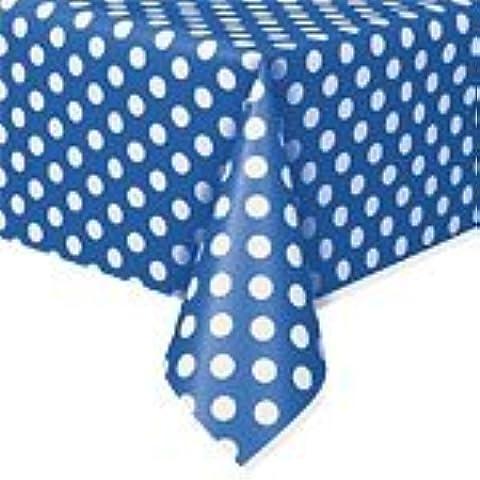 Puntos decorativos azul mantel de plástico