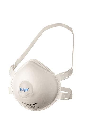 Dräger X-plore 1330 V FFP3 Atemschutzmaske mit Ventil | Größe M/L | 5 St. | Einweg-Staubmaske gegen giftige Stäube/Rauch/Krankheitserreger/Aerosole