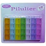 PILULIER, Semainier, Boite à PILULES, Médicaments Détachable 7 Jours en couleur