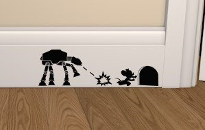 Star Wars ATAT vs Mouse Skirting Board Vinyl Decal Sticker wall art bedroom living room lounge car - DESIGNED AND CREATED BY EPIC MODZ