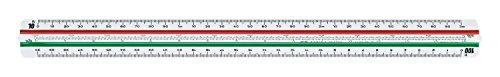 Faber-Castell 176536 - Escalímetro 853 HP-F para ingeniería industrial, escalas: 1:2,5:5:10:20:50:100