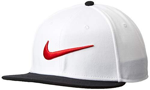 Nike U NK PRO SWOOSH CLASSIC Hat, White/Black/University red, One - Nike Classic Women Tennis