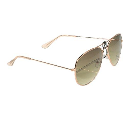 brille Fliegerbrille Pornobrille mit Federscharnier NICHT verspiegelt (Klar) PBR11 (Klar Verspiegelten Sonnenbrillen)