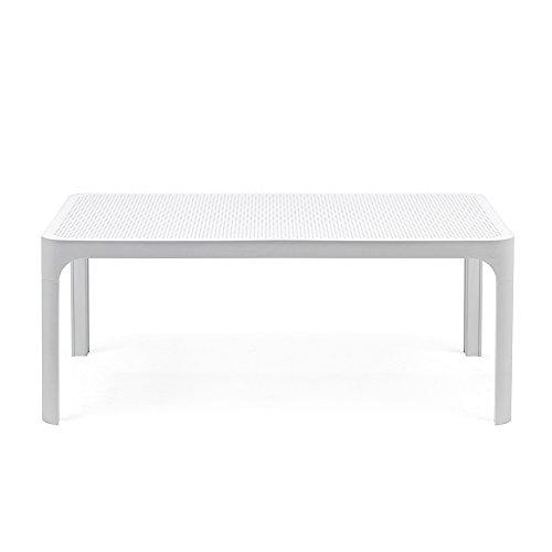 Net Tisch 100x60 cm weiß Kunststoff weiß