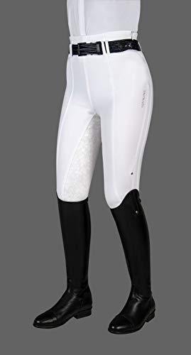 Equiline Damenreithose Fleur, Damen Reithose mit Fullgrip Farbe weiß, Größe 36