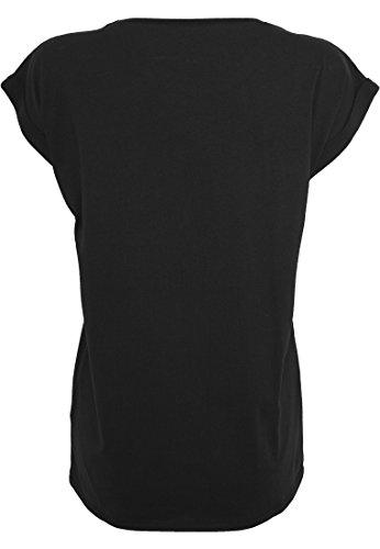 Femmes Extended épaule t-shirt t-shirt d'été Haut pour femmes Princesses être Né Argent noir Janvier