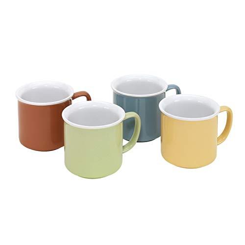 Tassen Kaffeetasssen 4er Set ca 355 ml Keramik Spülmaschine und Mikrowelle geeignet