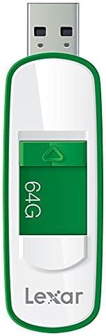 Lexar S75 64Go USB 3.0 JumpDrive - Blanc/Vert