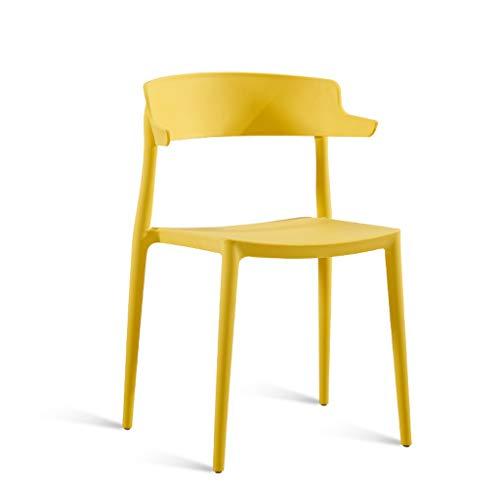 Zähler Höhe Tisch Hocker (CKH Odern Minimalist Stuhl Haushalt Kunststoff Hocker Rückenlehne Esszimmerstuhl Erwachsene Nordic Freizeit Stuhl Mode Horn Stuhl Gelb)