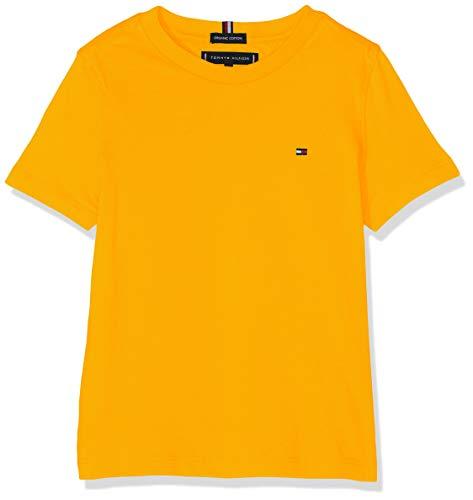 Tommy Hilfiger Jungen Essential ORIGINAL CTTN Tee S/S T-Shirt, Gelb (Radiant Yellow 720), 104 (Herstellergröße: 4)